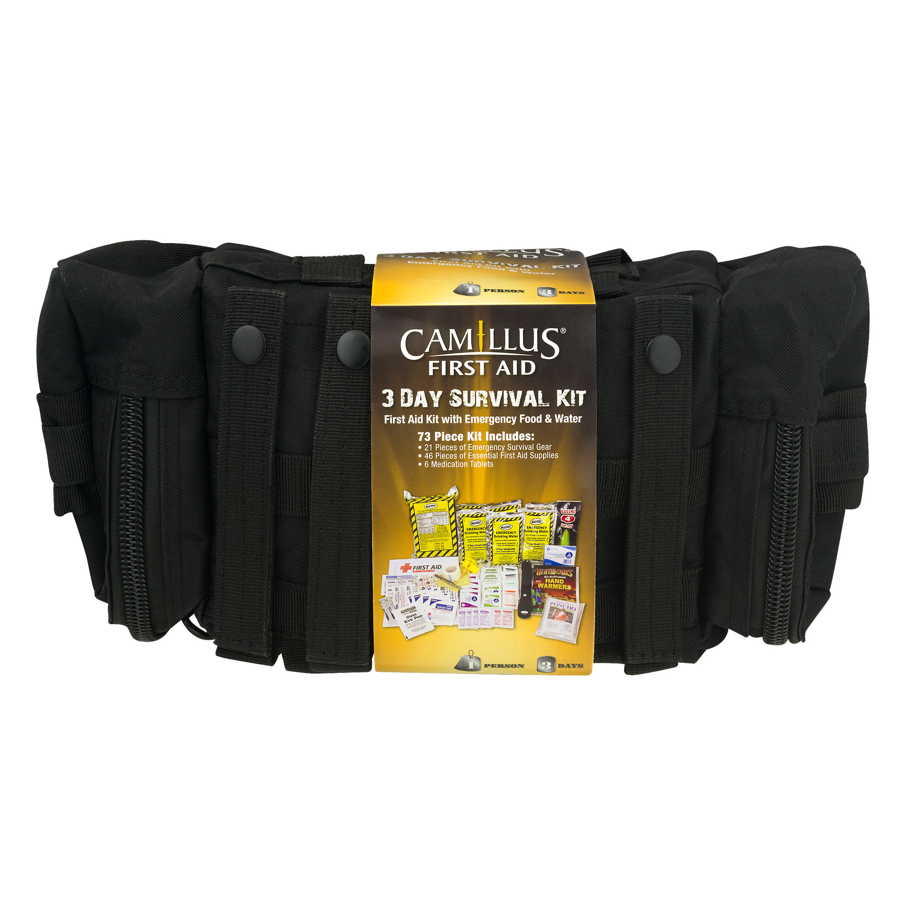 Camillus First Aid 3 Day Survival Kit 73 PC, 1.0 CT by ACME UNITED CORPORATION