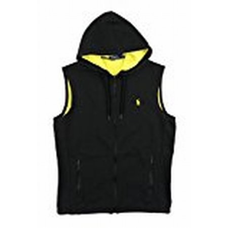 3ffee0baa Polo Ralph Lauren - Polo Ralph Lauren NEW Black Yellow Mens Size 2XL Full-Zip  Vest Sweater - Walmart.com