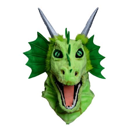 Moving Jaw Green Dragon Mask - Jaw Mask