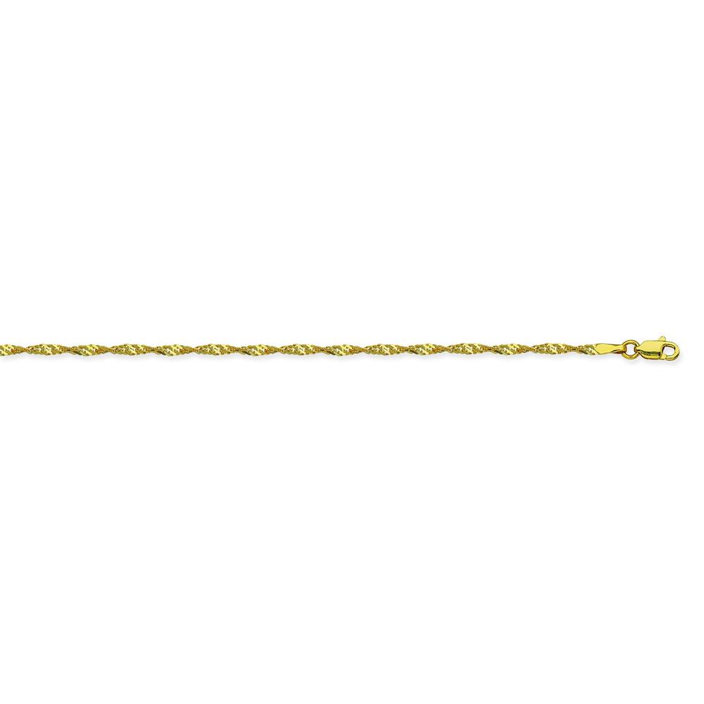 Dazyle 14K Yellow Gold 1.7 Singapore Chain in 16 inch, 18...