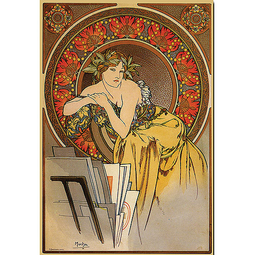 "Trademark Fine Art ""Mucha"" Canvas Art by Alphonse Mucha"