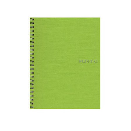 EcoQua Notebooks spiral blank lime 5.8 in. x 8.25 in., SV19821318 By Fabriano From USA