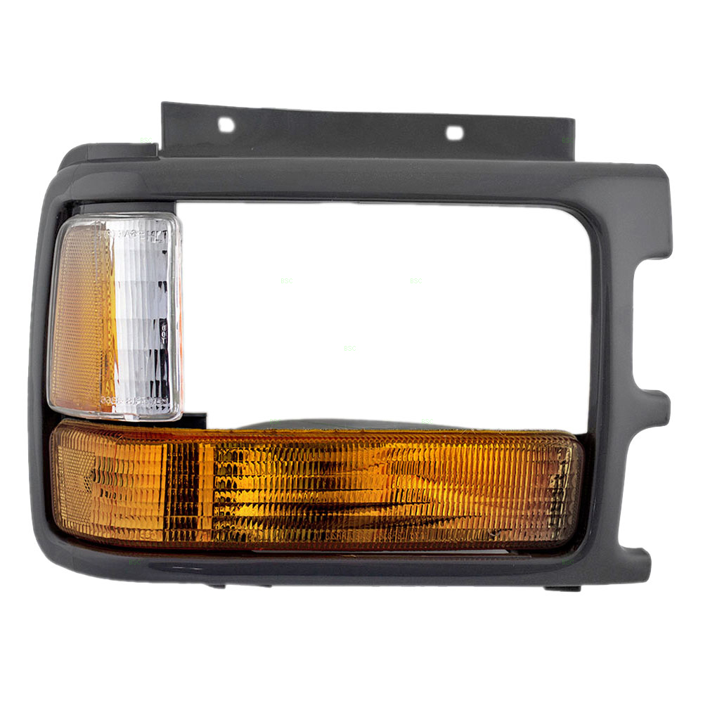 Passengers Park Signal Side Marker Light with Headlamp Bezel Replacement for Dodge Pickup Truck 83506612