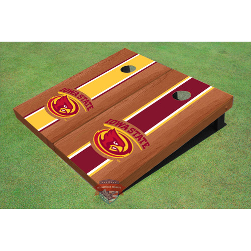 All American Tailgate NCAA Rosewood Alternating Long Stripe Cornhole Board (Set of 2) by All American Tailgate