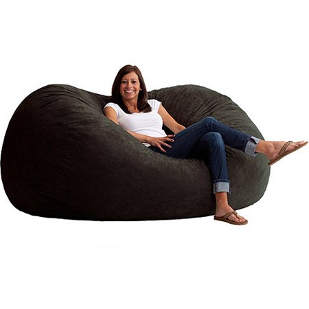 XL 6 Fuf Comfort Suede Bean Bag Multiple Colors