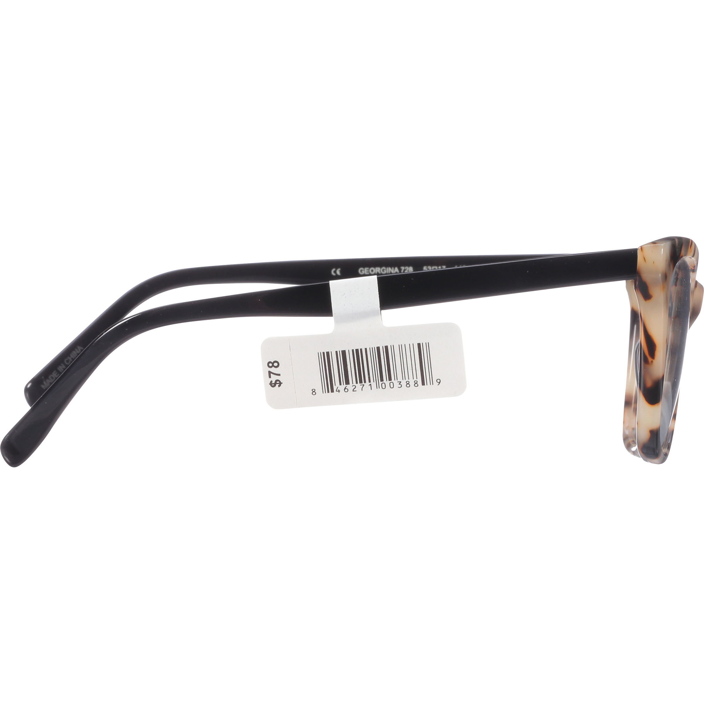 3bbbb003e1f6 Georgina Eyewear Rx-able Eyeglass Frames 728 Black Tortoise - Walmart.com