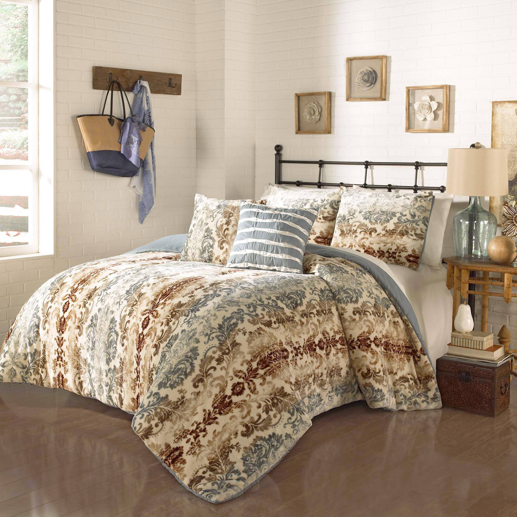 Ehs Selma Plush Decor Comforter Set