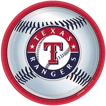 Baseball Paper Plates (MLB Texas Rangers Large Paper Plates)