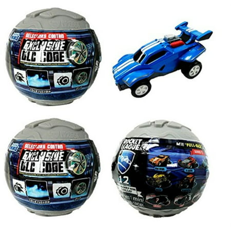 Rocket League Mini PullBack Racer Car Mystery Ball Set of 3 With Possible DLC