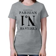 Glamorous Parisian Number 1 Designer Shirt French France Cute Ladies T-Shirt