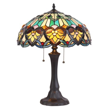 Lamp Victorian Table Lamp - Chloe Lighting Tiffany Style Victorian Design 2-light Bronze Table Lamp