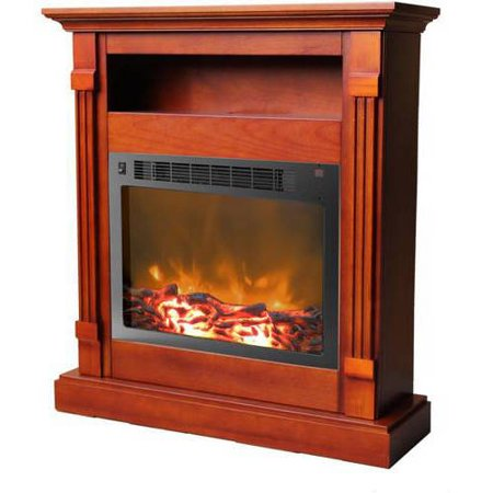 Cambridge Sienna Fireplace Mantel with Electronic Fireplace Insert