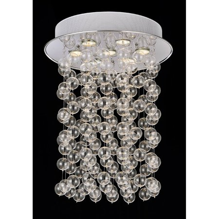 The Lighting Store Floating Glass Bubble 7-light Flushmount Ceiling (Glass Floating Bubbles)