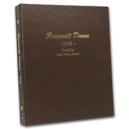 Album #8125 - Roosevelt Dimes 1946 - Date (w/Proofs) (Proofs Dansco Album)