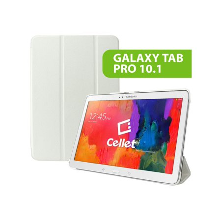 101 Shell - Cellet Slim Shell Folio Cover Case for Samsung Galaxy Tab Pro 10.1 White