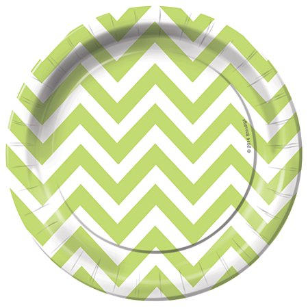 Chevron Dessert Party Plates Pack of 8 (Purple Dessert)