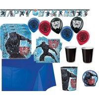 Black Panther Mega Birthday Party Suppy Pack for 16 Guests