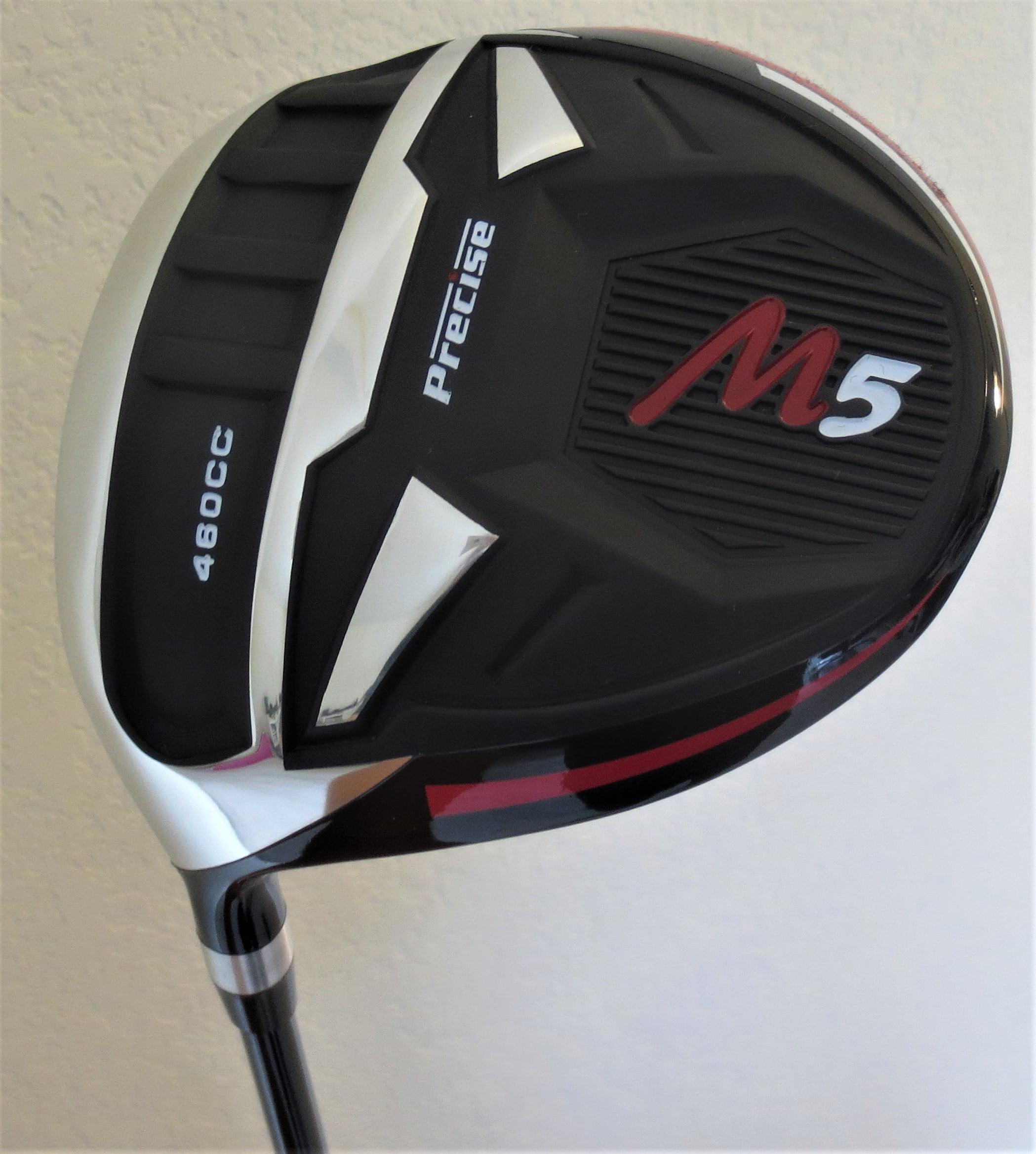 Left Hand Mens M5 460cc Golf Driver Super Long Hitting and Accurate Ti Regular Flex Graphite 10 Degree Golf Club LH Max Distance
