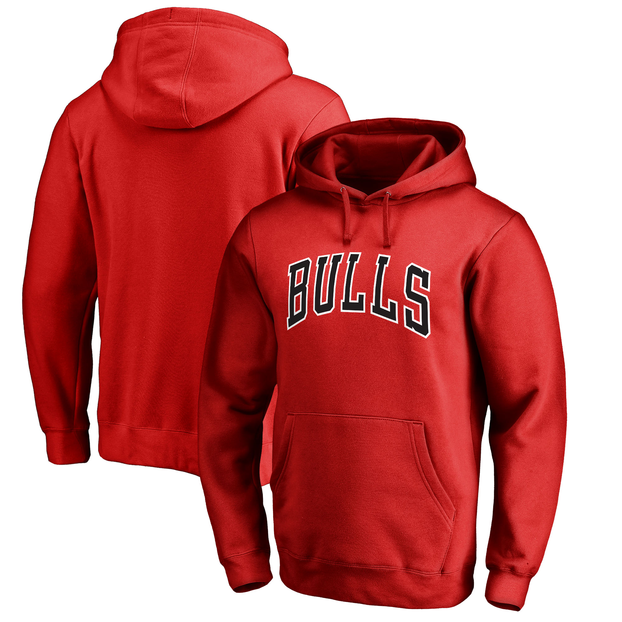 Chicago Bulls Fanatics Branded Wordmark Pullover Hoodie - Red