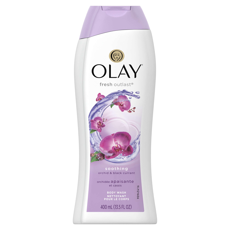 Olay Fresh Outlast Soothing Body Wash, Orchid & Black Currant, 13.5 Fl Oz