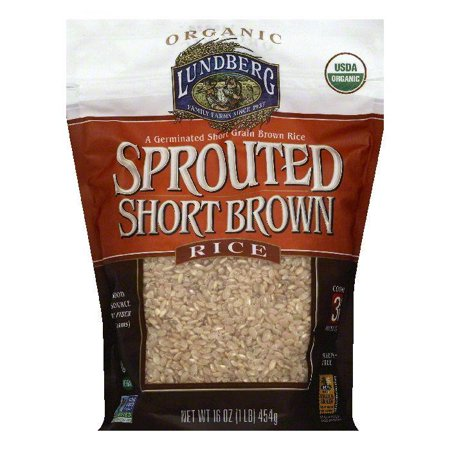 Lundberg Sprouted Short Grain Brown Rice, 16 OZ (Pack of (Best Short Grain Brown Rice)