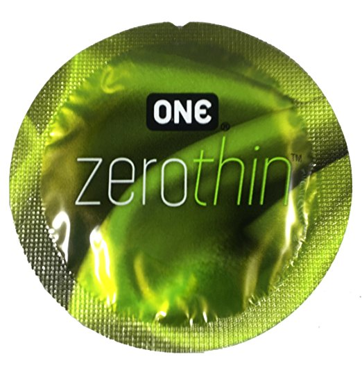 ONE Zero Thin with Brass Pocket Case, Premium Lubricated Ultra Sensitive Latex Condoms-24 Count