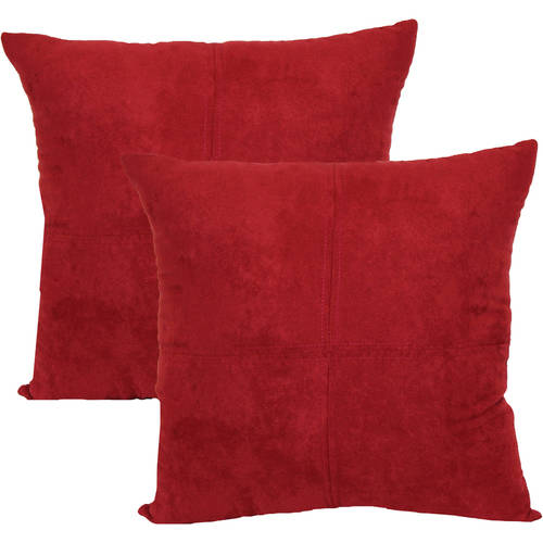 4-Panel Suede Decorative Pillow, 2-Pack