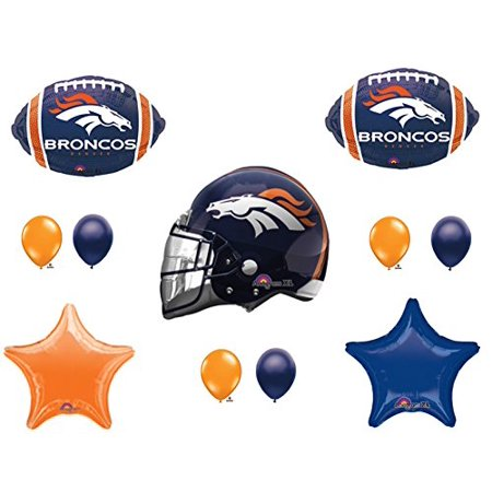 DENVER BRONCOS HELMET Birthday Party Balloons Decoration Supplies for $<!---->