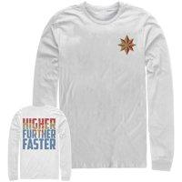 Marvel Men's Captain Marvel Higher Star Long Sleeve T-Shirt