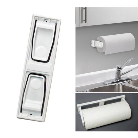 AllTopBargains Paper Towel Roll Holder Dispenser Wall Mount Cabinet Kitchen Houseware Plastic (Wall Mount Paper Towel Holder)