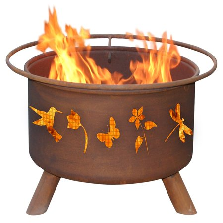 Patina products f110 flower and garden fire pit for Flower fire pit