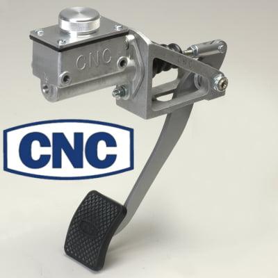 Cnc Silver Reverse Swinging Single Brake Pedal Assembly Short 1 Inch Bore Master Cylinder