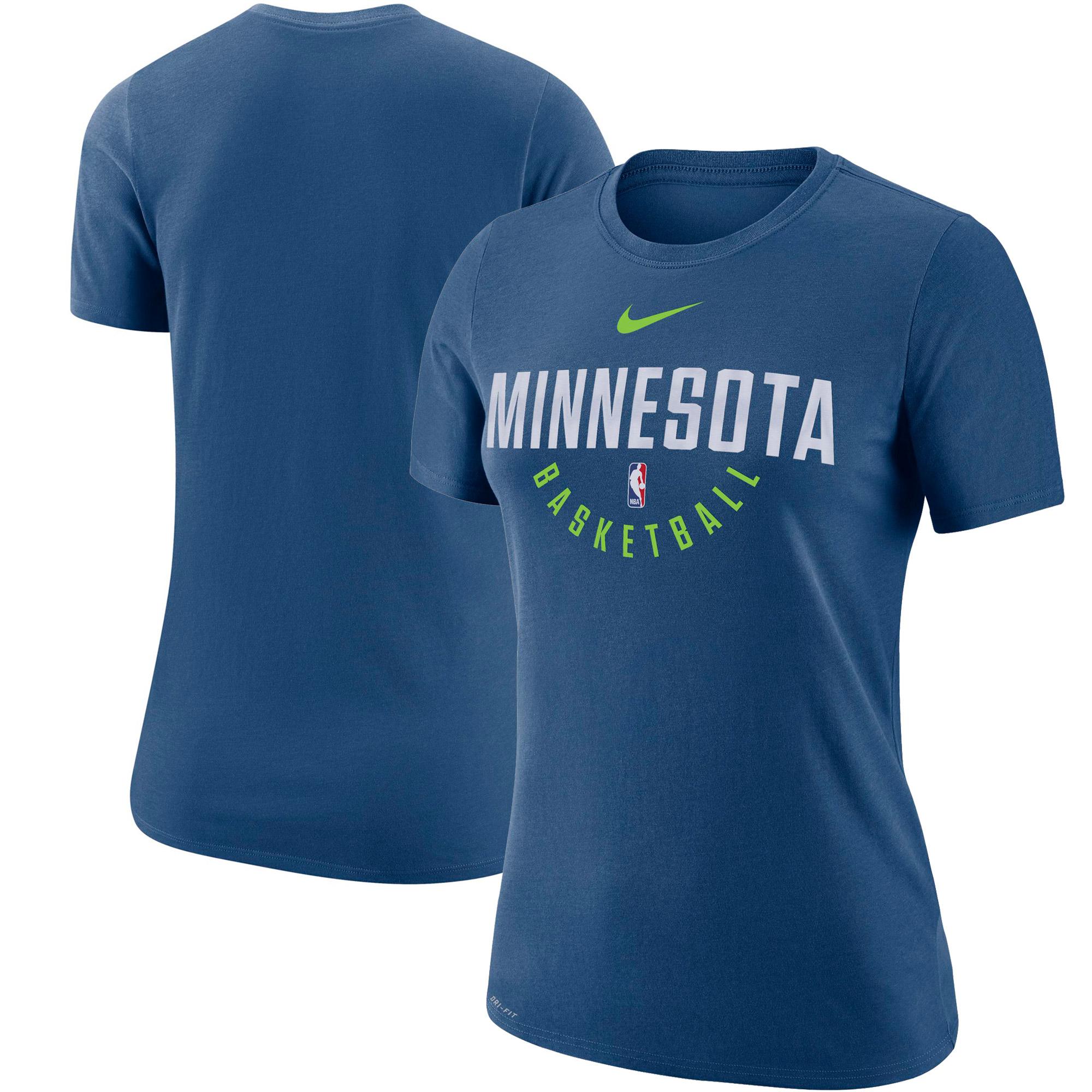 Minnesota Timberwolves Nike Women's Practice Performance T-Shirt - Blue