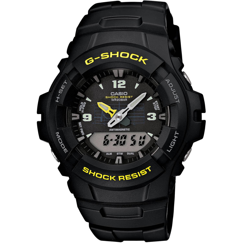 Casio Men's G-Shock Analog-Digital Watch, Black Resin Strap