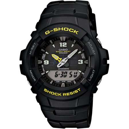 G-shock Stopwatch - Casio Men's G-Shock Analog-Digital Watch, Black Resin Strap