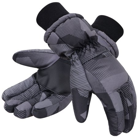 Simplicity Mens 3M Thinsulate Winter Waterproof Ski Gloves Black L