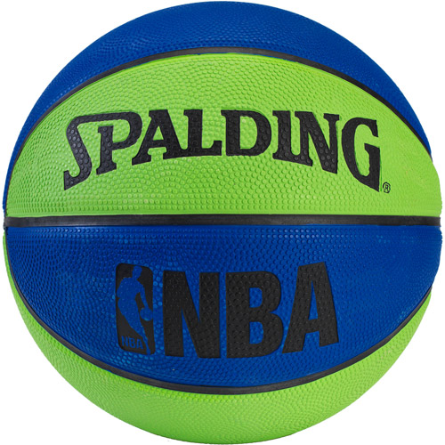 Spalding NBA Mini Basketball, Blue/Green
