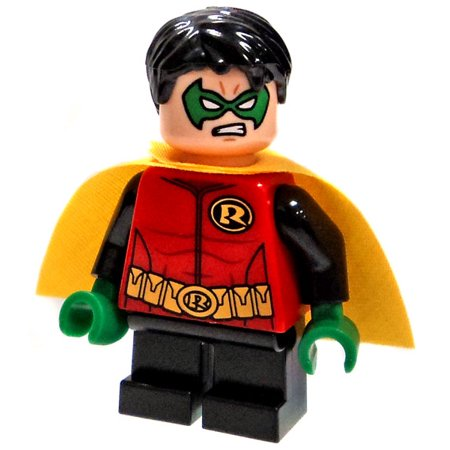 LEGO DC Universe Batman Robin With Yellow Cape Minifigure [No Staff - Batman And Robin Capes