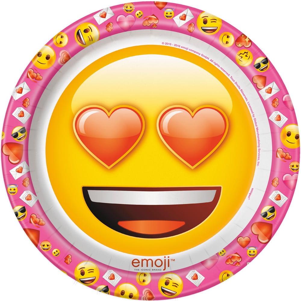 "Emoji Pink 9"" Luncheon Plates (8 Count)"