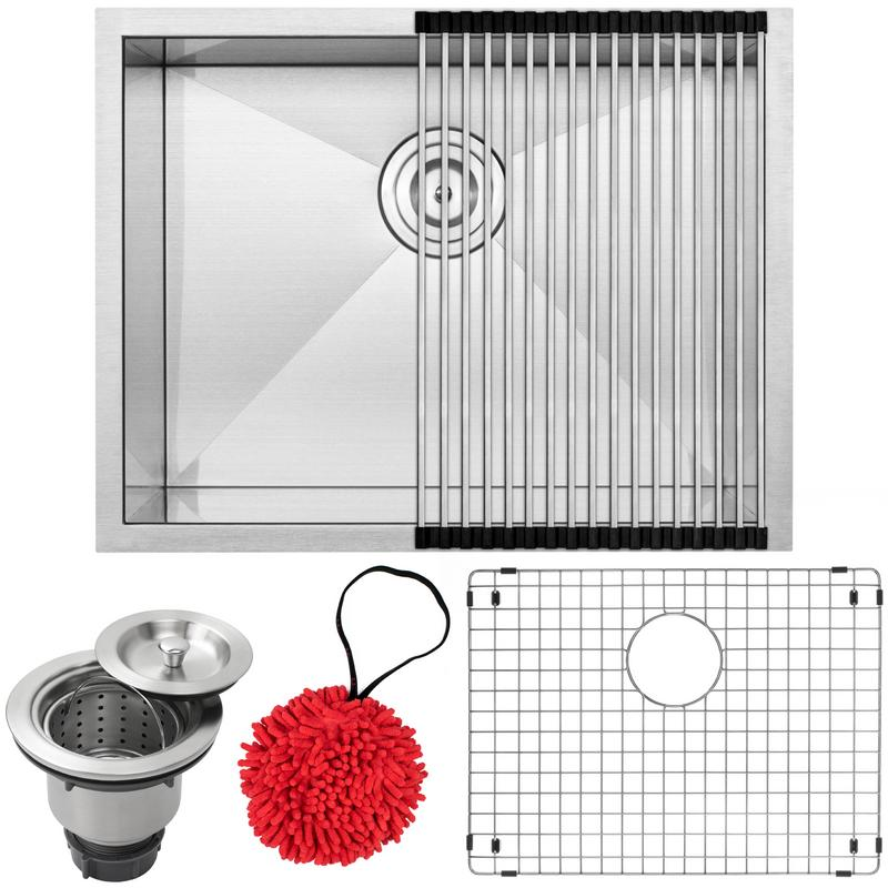 "22 1 2"" Ticor S3660 Pacific Series 16-Gauge Stainless Steel Undermount Single Basin Zero Radius Kitchen Laundry... by"