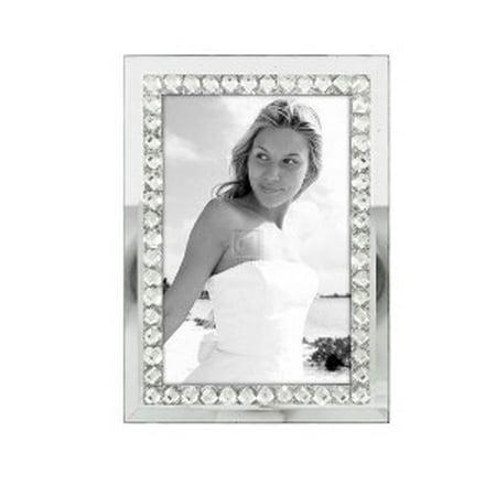 4x6 Jewel Mirror Glass Photo Frame