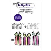 "IndigoBlu Clear Stamp 5""X4""-Triple Parcel"