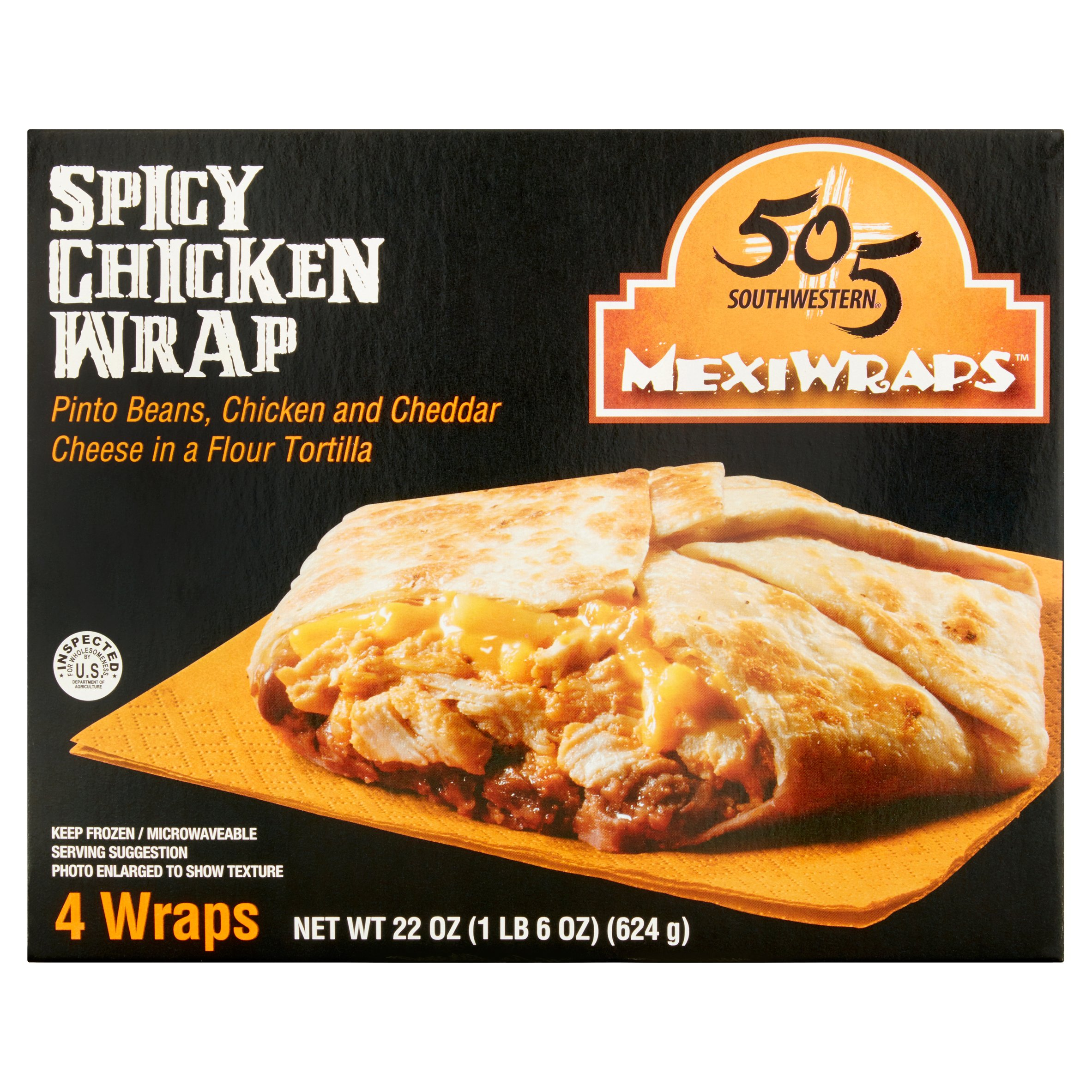 505 Southwestern MexiWraps Spicy Chicken Wrap, 4 count, 5.5, oz
