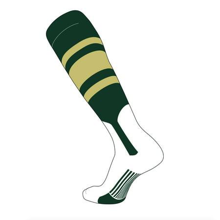 TCK Elite Baseball Knee High Stirrup Socks (C, 7in) Dk Green, Vegas
