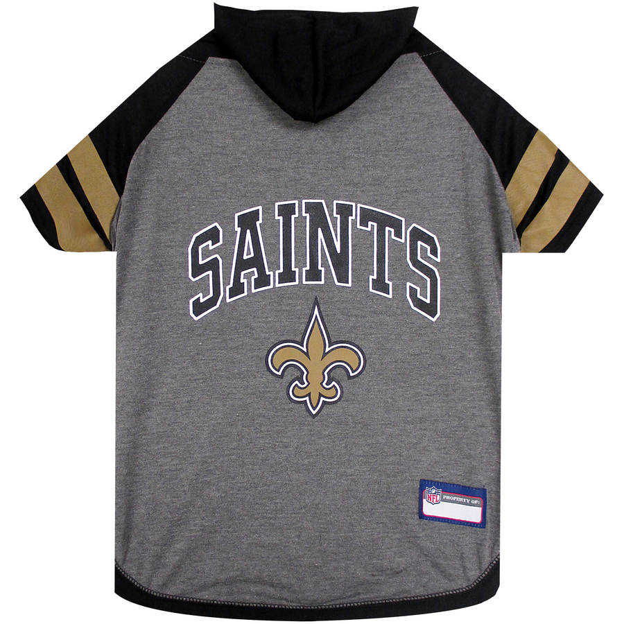 Pets First NFL New Orleans Saints Pet Hoodie Tee Shirt