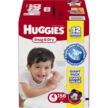 HUGGIES Snug & Dry Diapers, Giant Pack,