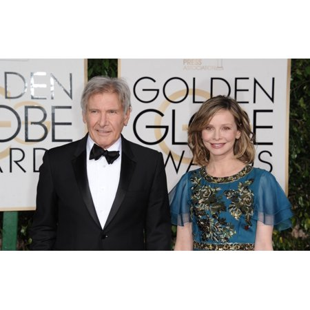 Calista Flockhart Harrison Ford At Arrivals For 73Rd Annual Golden Globe Awards 2016 - Arrivals 4 The Beverly Hilton Hotel Beverly Hills Ca January 10 2016 Photo By Dee CerconeEverett Collection Celeb