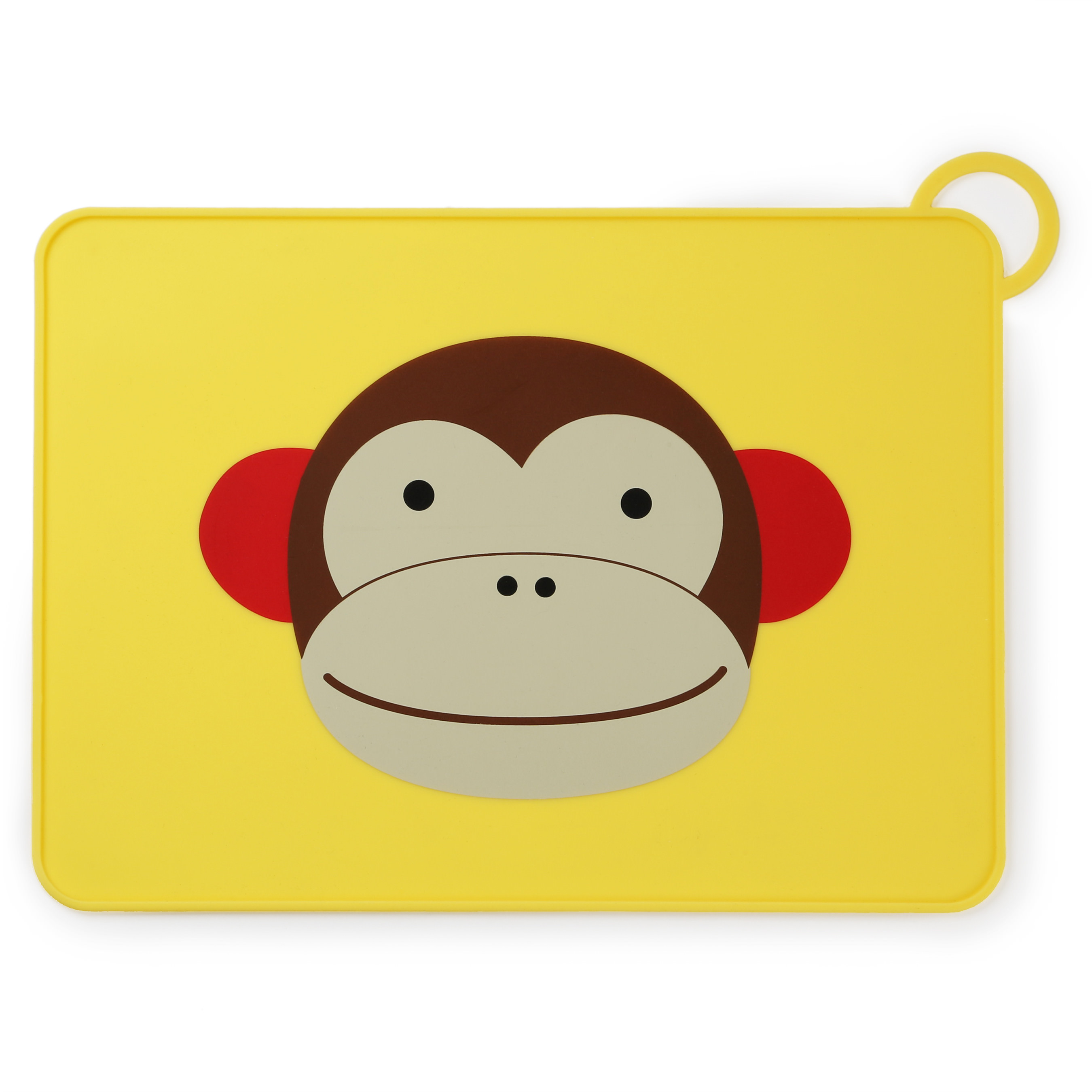 Skip Hop Zoo Fold & Go Silicone Placemat, Monkey