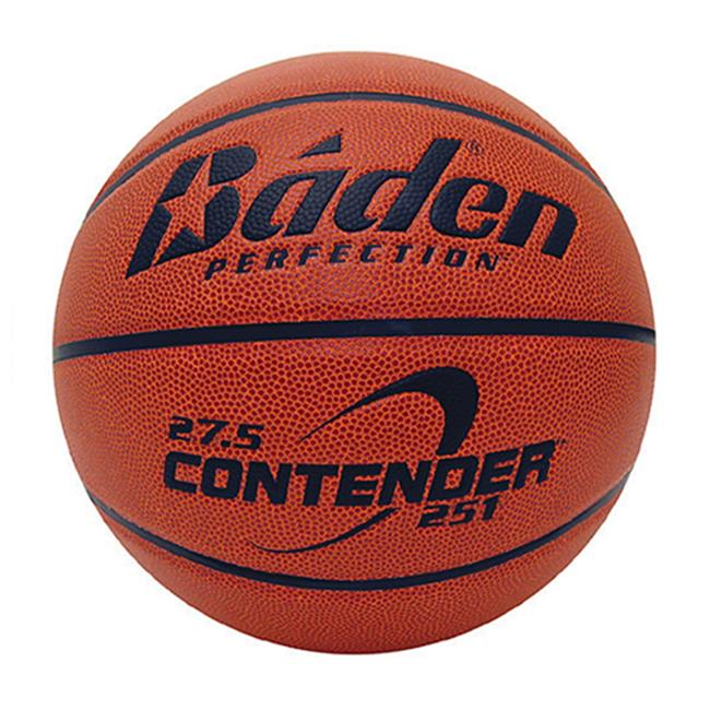 Baden B251-01-F Contender Official Wide Channel Basketball Size 27.5 In. Natural Orange Color
