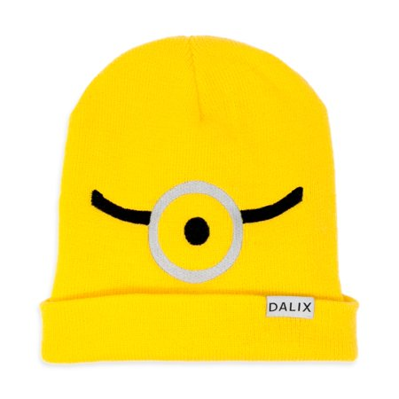 DALIX Minion Yellow Beanie Costume Hat Custom Color - Minion Beanie Hat